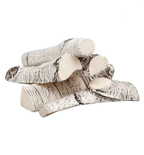 KRATKI Ozdobné elementy - keramická polená brezy KRATKI