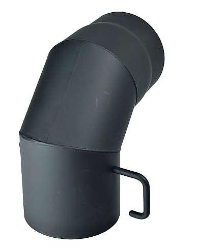 KRATKI Dymovod koleno s klapkou 90°, Ø 130 mm Kraus